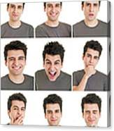 Man Face Expressions Canvas Print