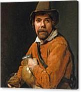 Man Holding A Jug Canvas Print