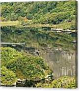 Man In Small Fishing Boat Travelling On Upper Lake Of Killarney National Park County Kerry Ireland Canvas Print