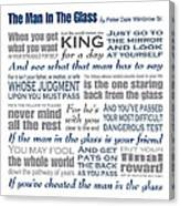 The Man In The Glass Poem Canvas Print