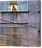 Man In The Window Canvas Print