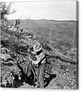 Man Mining Ore Canvas Print