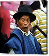 Man Of Cotacachi Ecuador Canvas Print