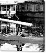Man Plying Wooden Shikara Canvas Print