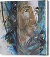 Man Portrait By C215 Canvas Print