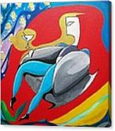 Man Sitting In Chair Canvas Print