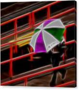 Man Under Umbrella Canvas Print