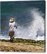 Man Versus The Sea Canvas Print