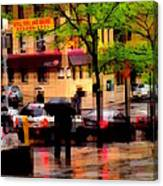 Reflections - New York City In The Rain Canvas Print