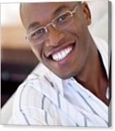 Man Wearing Glasses Canvas Print