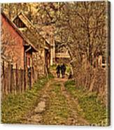 Man With A Horse Canvas Print
