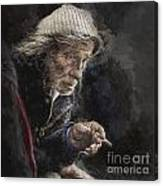 Man with cigarette Canvas Print