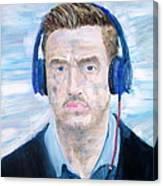 Man With Headphones Canvas Print