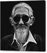 Man With White Beard Canvas Print