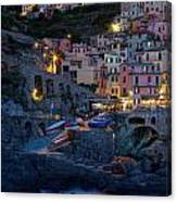 Manarola By Night Canvas Print