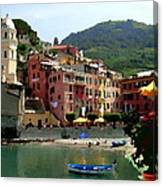 Waterfront - Vernazza - Cinque Terre - Abstract Canvas Print