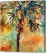 Manasota Key Palm 2 Canvas Print