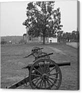 Manassas Battlefield Cannon And House Canvas Print