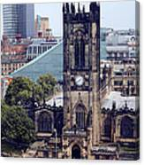 Manchester Cathedral Canvas Print