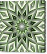 Mandala 107 Green Canvas Print