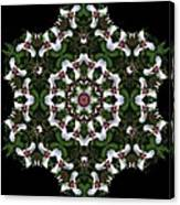 Mandala Trillium Holiday Canvas Print