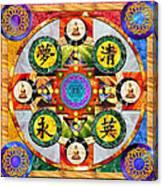 Mandala Wheel Canvas Print