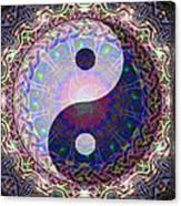 Mandala Yin Yang Canvas Print