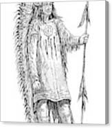 Mandan Indian Chief Canvas Print