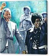 Mandela - Leaving Prison Canvas Print