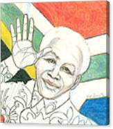 Mandela's Blooming Shirt Canvas Print