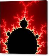 Mandelbrot Fractal Flash Power Red And Black Canvas Print