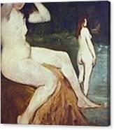 Manet, �douard 1832-1883. Bathers Canvas Print