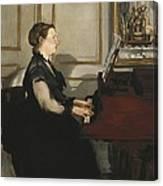 Manet, �douard 1832-1883. Madame Manet Canvas Print