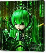 Manga Matrix Canvas Print