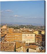 Mangia Tower Piazzo Del Campo  Siena  Canvas Print