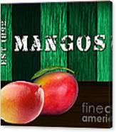 Mango Farm Sign Canvas Print