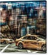 Manhattan - Yellow Cabs - Future Canvas Print