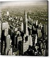 Manhattan And Chrysler Building II Canvas Print