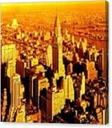 Manhattan And Chrysler Building Canvas Print