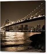 Manhattan Bridge At Night II Canvas Print