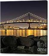 Manhattan Bridge Evening Reflections Canvas Print
