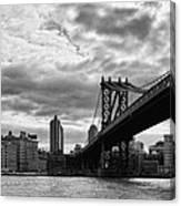 Manhattan Bridge In Bw Canvas Print