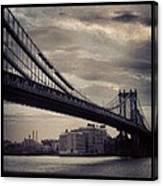 Manhattan Bridge In Ny Canvas Print