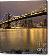 Manhattan Bridge Lights  Canvas Print