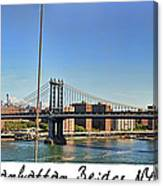 Manhattan Bridge Nyc Canvas Print