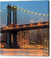 Manhattan Bridge Panoramic Canvas Print