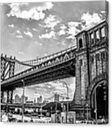 Manhattan Bridge - Pike And Cherry Streets Canvas Print