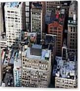 Manhattan From Above Canvas Print