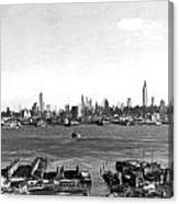 Manhattan From New Jersey Canvas Print
