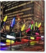 Manhattan Holiday Decorations Canvas Print